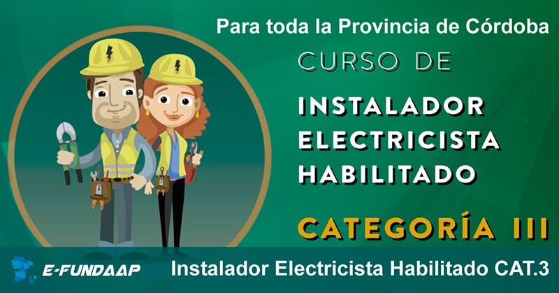 Curso con salida laboral de electricista